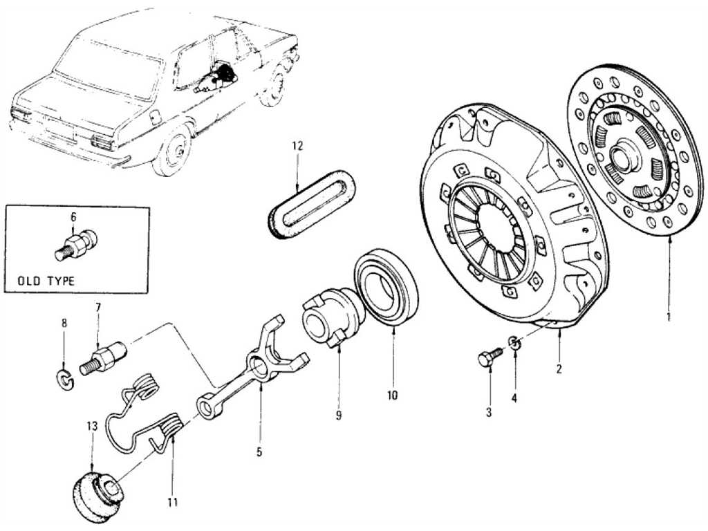 Clutch Disc, Clutch Cover & Withdrawal Lever