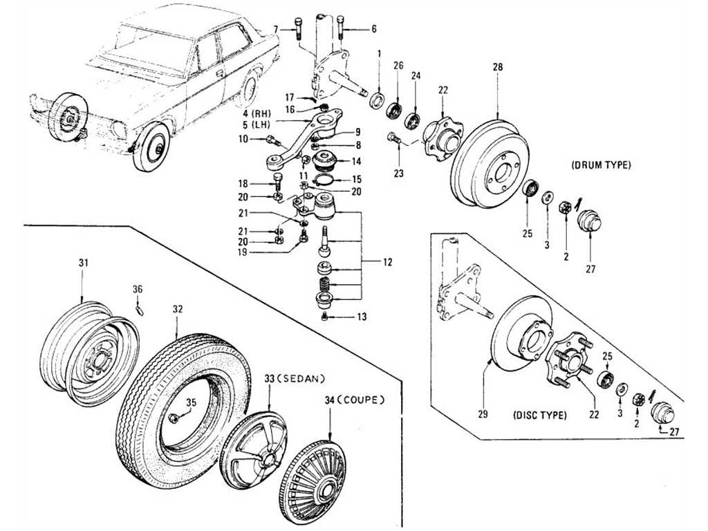 Front Axle, Road Wheel & Tire