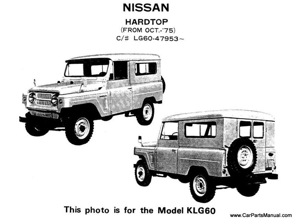 Nissan Hard-Top (From Oct.-'75, Model KLG60)
