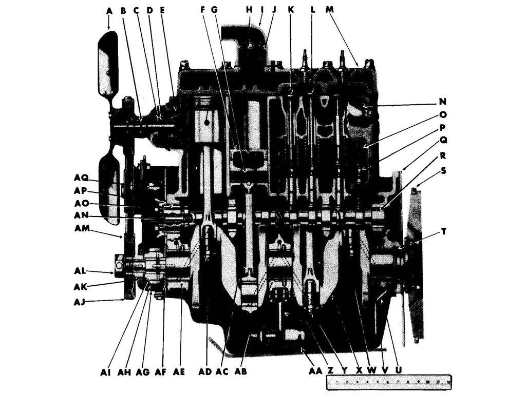ENGINE, SIDE VIEW