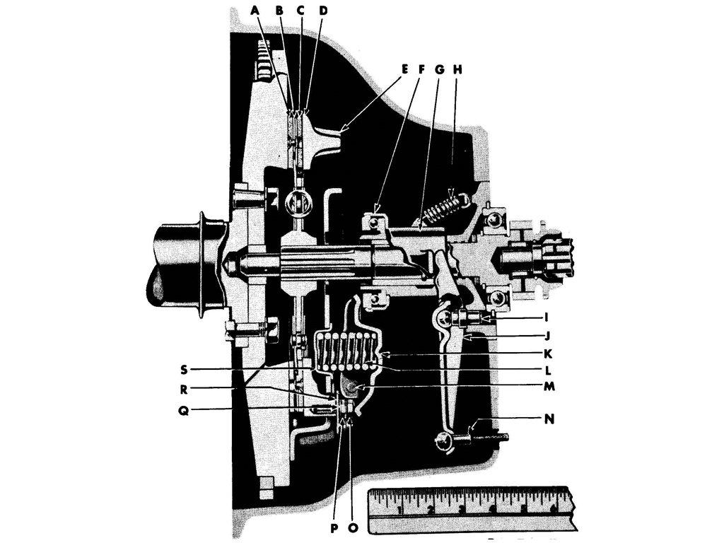 CLUTCH ASSEMBLY-SECTIONAL VIEW