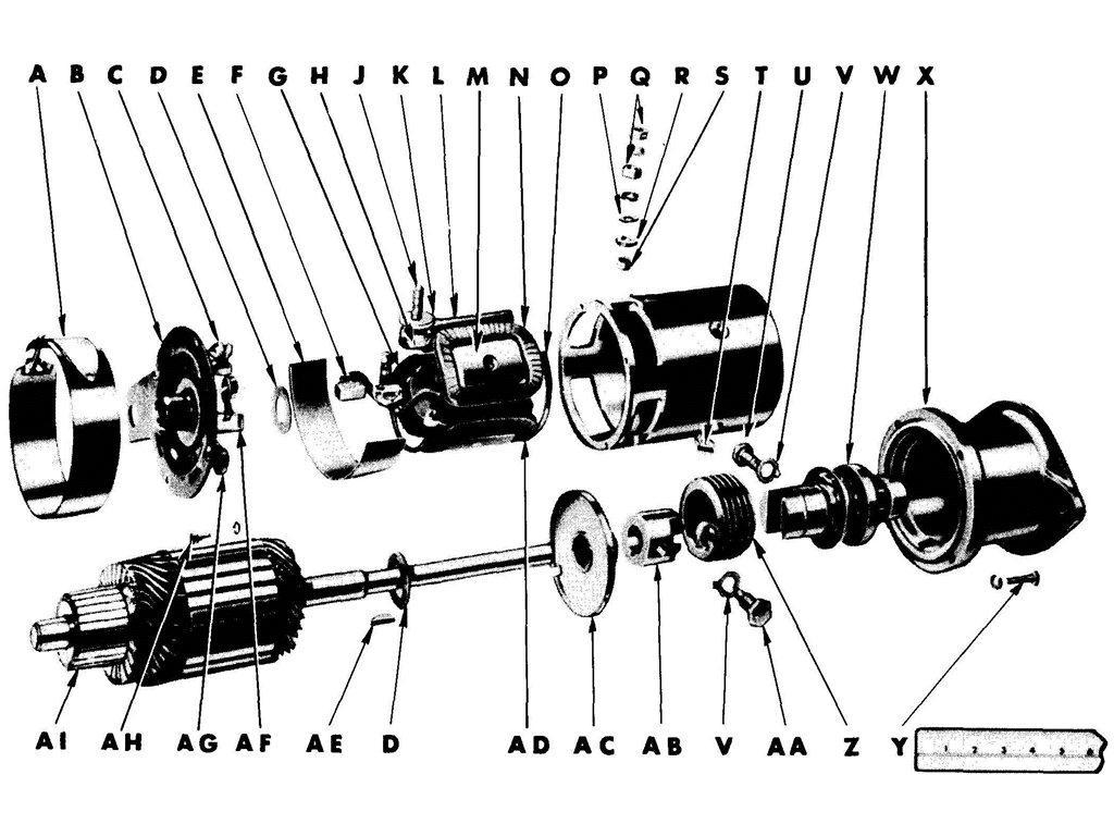 Willys Jeep Mb Starter 1945 Engine Diagrams Cranking Motor Assembly
