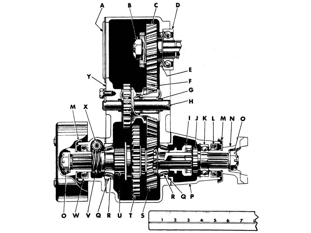 TRANSFER CASE-CROSS-SECTIONAL VIEW
